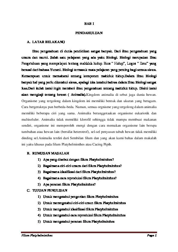 platyhelminthes 5 példa