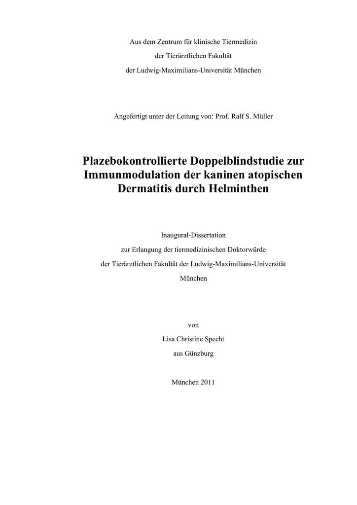 helminthiasis protokoll
